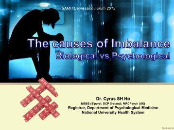 Causes of Imbalance by Dr. Cyrus Ho - Singapore Association for ...
