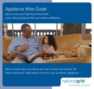 Appliance Wise Guide - National Grid