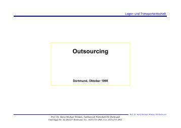 Outsourcing - Prof. Dr. Heinz-Michael Winkels