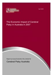 The economic impact of cerebral palsy in Australia in 2007