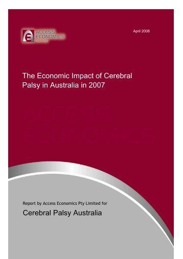 The economic impact of cerebral palsy in Australia in 2007