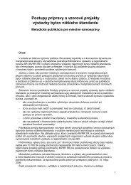 Textová časť - Ministerstvo výstavby a regionálneho rozvoja