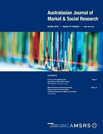 AJMSR Volume 18 Number 1 - aprc-research