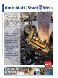 Amtsblatt der Stadt Wels Juli 2011 (15 MB)