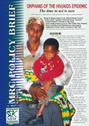 orphans of the hiv/aids epidemic - SA Medical Research Council