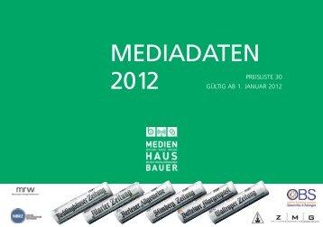 MEDIADATEN 2012 - Recklinghaeuser Zeitung