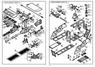 < EXPLODED VIEW (1) > < EXPLODED VIEW (2) > - Kyosho