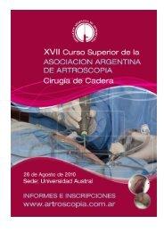 XVII Curso Superior de la - Asociación Argentina de Artroscopía