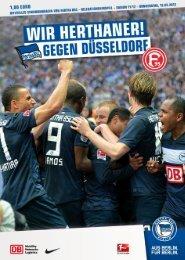 gegen Düsseldorf - Hertha BSC
