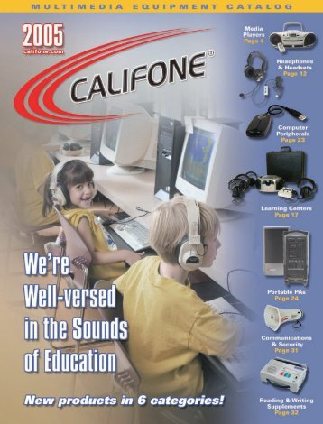 Califone 2005 Full Line Catalog - Cousin's Video, Inc.