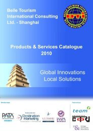 Products & Services Catalogue 2010 - Belle Tourism International