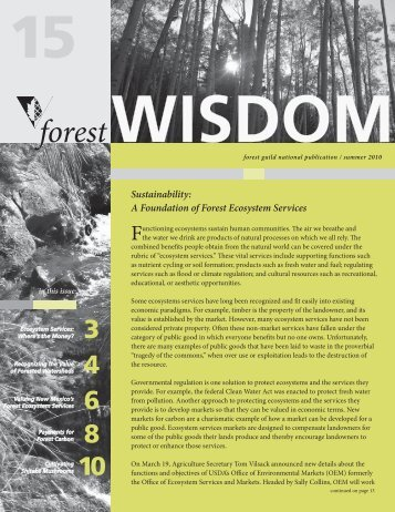 Ecosystem Services - Forest Guild