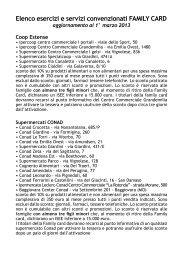 elenco degli operatori convenzionati aggiornato al 1 marzo 2013
