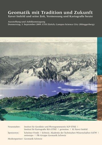 Geomatik mit Tradition und Zukunft - Xaver Imfeld