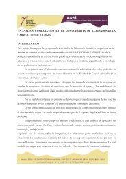UN ANALISIS COMPARATIVO ENTRE DOS COHORTES DE ... - ASET