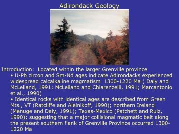 Adirondack Geology - Faculty web pages