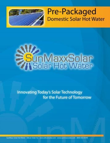 Pre-Packaged - Solar Hot Water & Heating Manufacturer