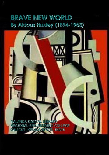 BRAVE NEW WORLD By Aldous Huxley (1894 ... - Mr. Lackey's Page