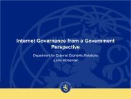 Ministry of Foreign Affairs Presentation Title Arial ... - Internetdagarna