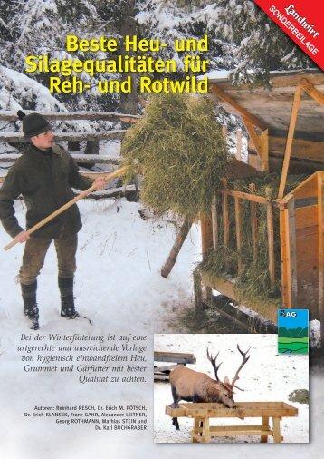 Beste Heu- und Silagequalitäten für Reh- und Rotwild - Landwirt.com