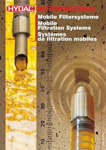 Systèmes de filtration mobiles - Hydac