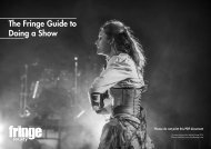 Fringe Guide to Doing a Show 2015