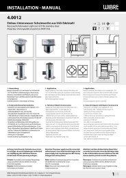 InstallatIon · Manual 4.0012 1/4 - Wibre