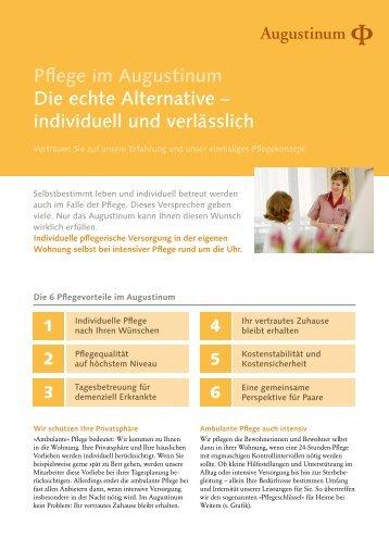Pflege im Augustinum Die echte Alternative – individuell und ...