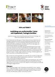 AHA-TEAM P-Trainerausbildung - Andreas Hermes Akademie