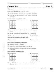 Chapter Test Form B