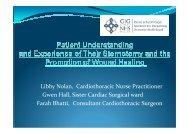 Libby Nolan, Cardiothoracic Nurse Practitioner Gwen Hall, Sister ...