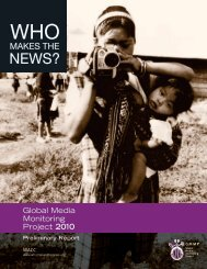 Global Media Monitoring Project 2010 - Osservatorio di Pavia