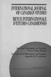 Fall/Automne 1992 - Conseil international d'études canadiennes