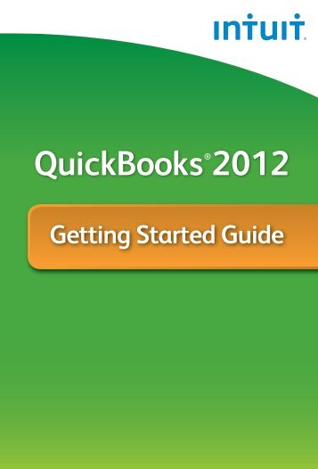 QuickBooks 2012 Getting Started Guide - Intuit