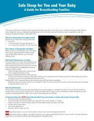 Safe Sleep for You and Your Baby - Clinical Lactation