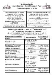 Saint-Nicolas de Flue Samedi – Dimanche 31 août et 1 ... - Cath-vd.ch
