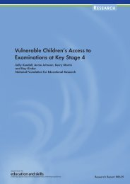 Vulnerable Children's Access to Examinations at Key Stage 4