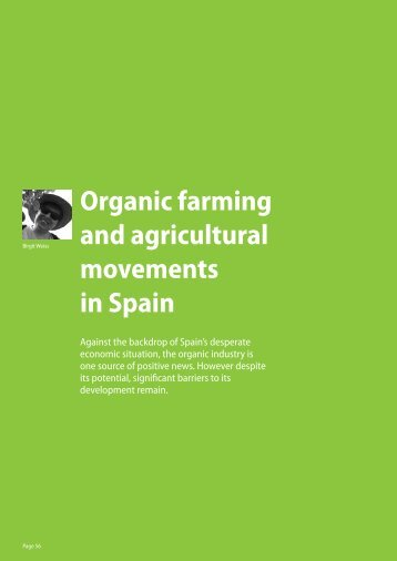 Organic farming and agricultural movements in Spain