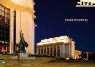 PRIVATE EVEnTs - Cité de l'architecture & du patrimoine