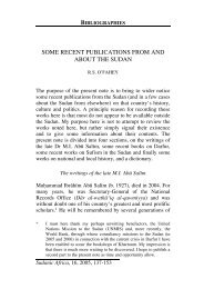 some recent publications from and about the sudan - Centre for ...