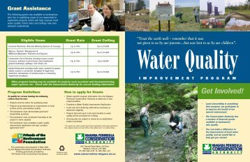 Water Quality Brochure - Niagara Peninsula Conservation Authority