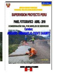 19 Fotos - Abril 2010 EMERGENCIAS Haga clic ... - Provias Nacional