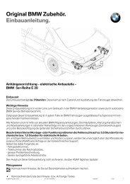 Original BMW Zubehör. Einbauanleitung.