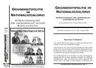 gesundheitspolitik im nationalsozialismus - Geschichtswerkstatt ...