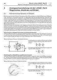 5 Analogwertverarbeitung mit der LOGO! -Teil II Wegstrecken ...