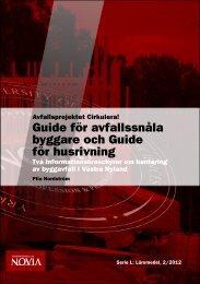 Avfallsprojektet Cirkulera! Guide för avfallssnåla byggare ... - Theseus