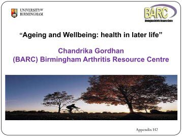 BARC Presentation - University of Birmingham