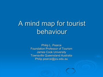 A mind map for tourist behaviour