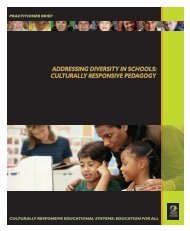 Addressing Diversity in Schools: Culturally Responsive ... - NCCRESt