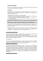 Columna Vertebral - clinica de traumatologia y ortopedia pediatrica